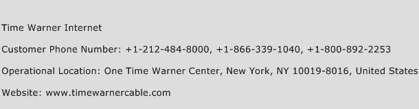Time Warner Internet Phone Number Customer Service