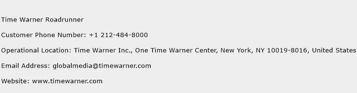 Time Warner Roadrunner Phone Number Customer Service