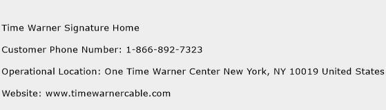 Time Warner Signature Home Phone Number Customer Service
