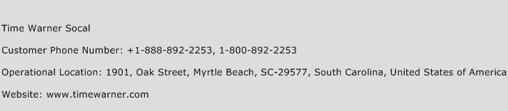 Time Warner Socal Phone Number Customer Service