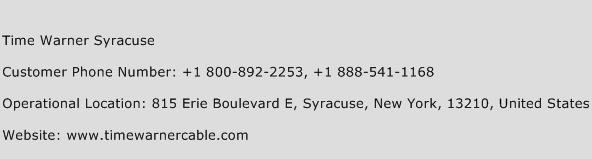 Time Warner Syracuse Phone Number Customer Service