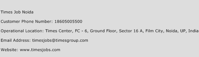Times Job Noida Phone Number Customer Service