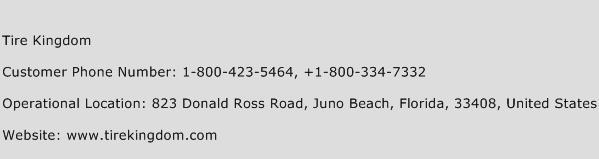 Tire Kingdom Phone Number Customer Service