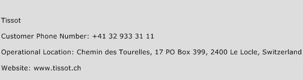 Tissot Phone Number Customer Service