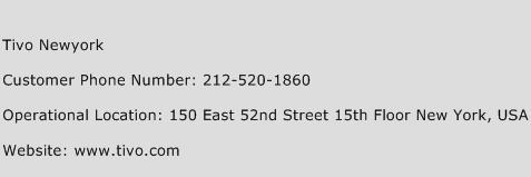 Tivo Newyork Phone Number Customer Service