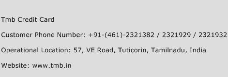 Tmb Credit Card Phone Number Customer Service