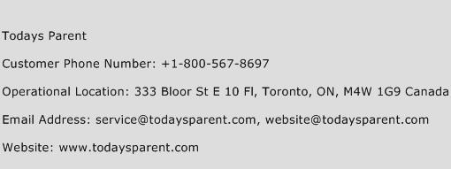 Todays Parent Phone Number Customer Service