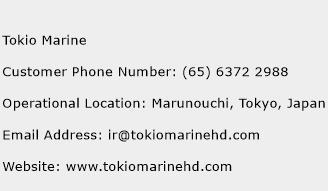 Tokio Marine Phone Number Customer Service