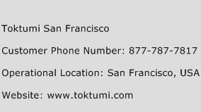 Toktumi San Francisco Phone Number Customer Service