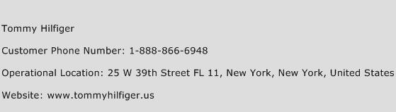 Tommy Hilfiger Phone Number Customer Service