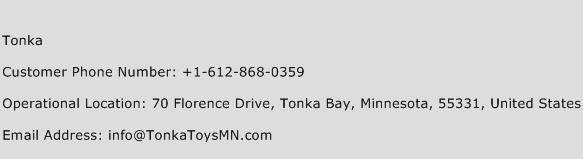 Tonka Phone Number Customer Service