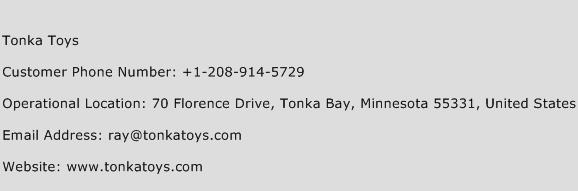 Tonka Toys Phone Number Customer Service