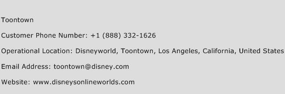 Toontown Phone Number Customer Service