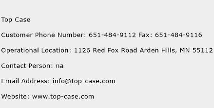 Top Case Phone Number Customer Service
