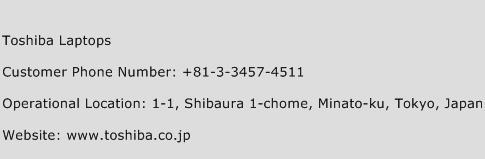 Toshiba Laptops Phone Number Customer Service