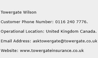 Towergate Wilson Phone Number Customer Service