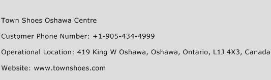 Town Shoes Oshawa Centre Phone Number Customer Service