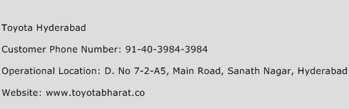 Toyota Hyderabad Phone Number Customer Service