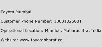 Toyota Mumbai Phone Number Customer Service