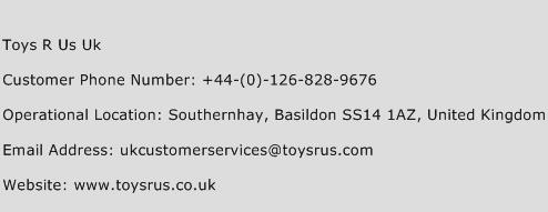 Toys R Us Uk Phone Number Customer Service