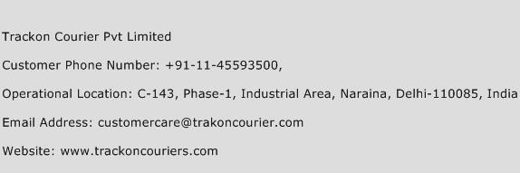 Trackon Courier Pvt Limited Phone Number Customer Service