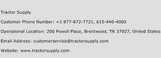 Tractor Supply Phone Number Customer Service