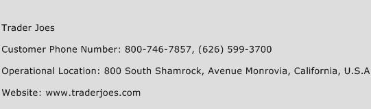 Trader Joes Phone Number Customer Service