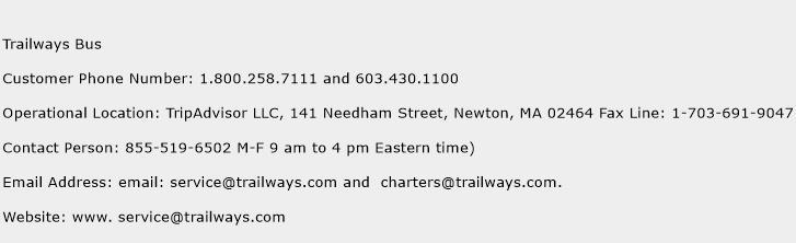 trailways bus number