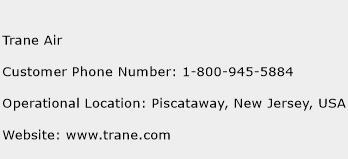 Trane Air Phone Number Customer Service