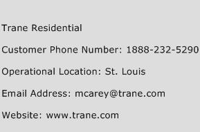 Trane Residential Phone Number Customer Service