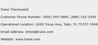 Trane Thermostat Phone Number Customer Service