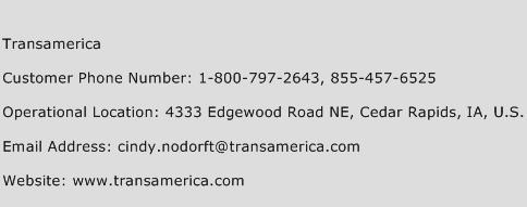 Transamerica Phone Number Customer Service