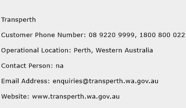 Transperth Phone Number Customer Service