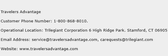 Travelers Advantage Phone Number Customer Service