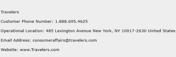 Travelers Phone Number Customer Service
