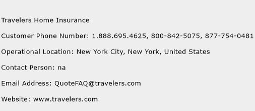 Travelers Home Insurance Phone Number Customer Service