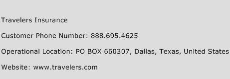 Travelers Insurance Customer Service Number