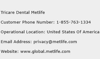 Tricare Dental Metlife Phone Number Customer Service
