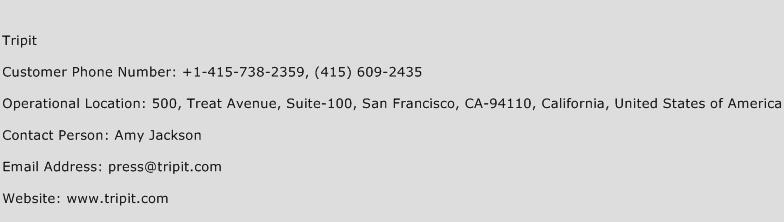 Tripit Phone Number Customer Service