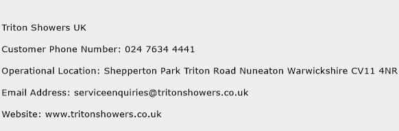 Triton Showers UK Phone Number Customer Service