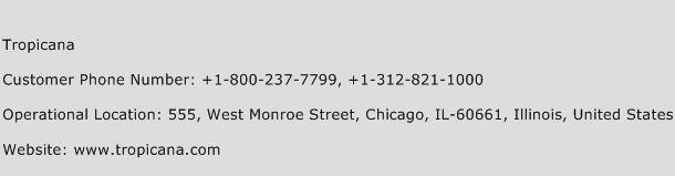 Tropicana Phone Number Customer Service