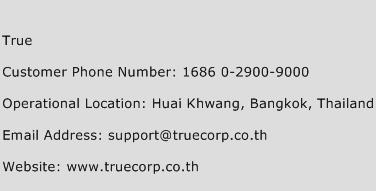 True Phone Number Customer Service