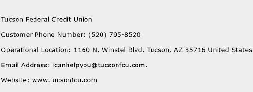 Tucson Federal Credit Union Phone Number Customer Service