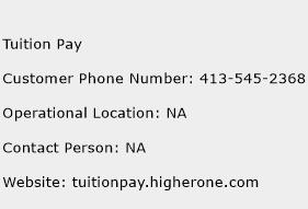 Tuition Pay Phone Number Customer Service