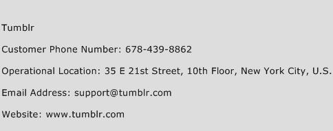 Tumblr Phone Number Customer Service