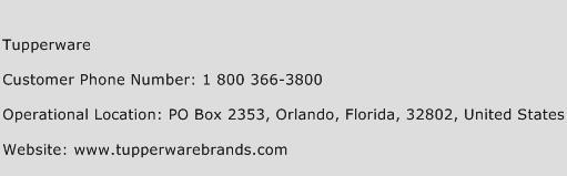 Tupperware Phone Number Customer Service