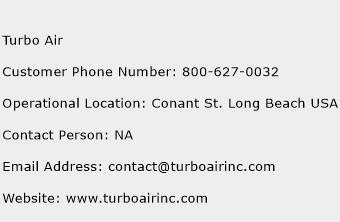 Turbo Air Phone Number Customer Service