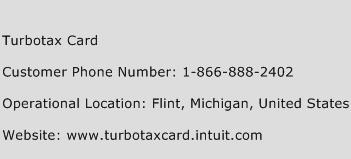 TurboTax Card Phone Number Customer Service