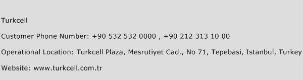 Turkcell Phone Number Customer Service
