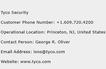 Tyco Security Phone Number Customer Service